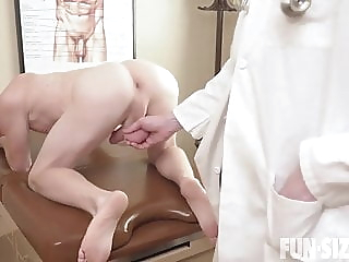Dr. Wolf's Office. Caleb & Dr Wolf - (BAREBACK HOT ). twink (gay) bareback (gay) big cock (gay)