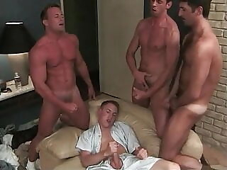 Blue Collar Circle Jerk - JG twink group sex handjob
