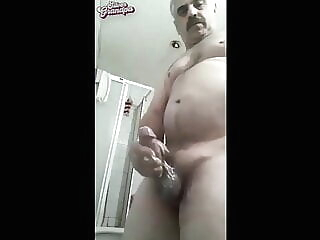 Hard bear dad big load amateur big cock daddy