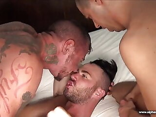Ray Dalton, Alex Mason, Tommy DeLuca and Wolvypup (RAM P6) bareback daddy group sex