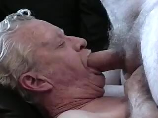 2 Grandpas play and cum gay daddy gay handjob gay masturbation