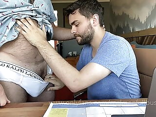 Hairy Dad lets cute boy use his computer 2:20 2021-01-11