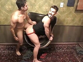 This muscular bitch won't stop moaning with that big cock twink amateur bareback