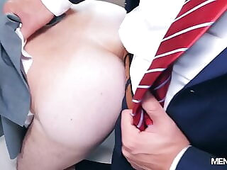 MEN IN SUITS bareback big cock blowjob