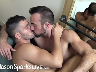JasonSparksLive - Straight first time jock gets monster cock bareback cum inside 8:02 2019-08-30